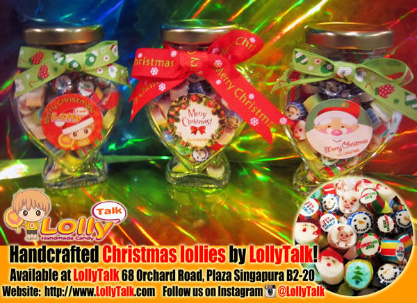 Christmas Lollies in Heart Bottles