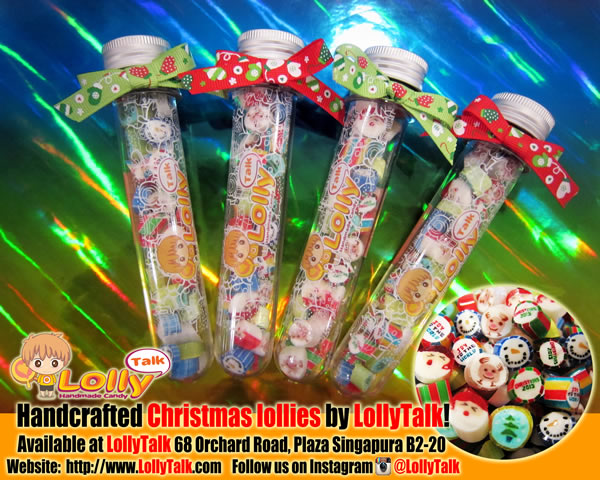 Christmas lollies in Test Tube