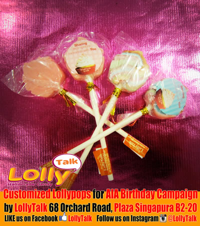 AIA lollipops cupcake shape