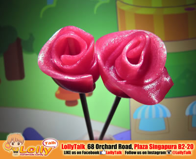 rose lollypop