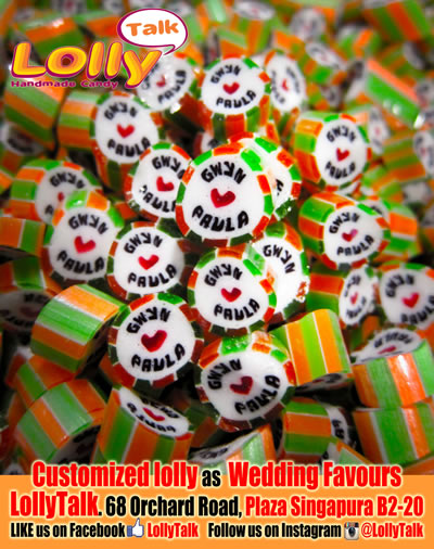 Customized Wedding Candy as Wedding Favours